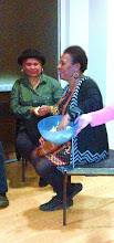 Photo: PISUKI Member, Vicky Glass (SI) and Oe Jameson  (PNG) Council Member, who masterminded the catering..