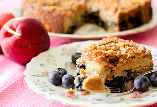 Nectarine and Blueberry Coffee Cake (Gluten-Free, Diabetic-Friendly)