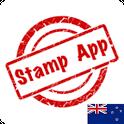Stamps New Zealand, Philately icon