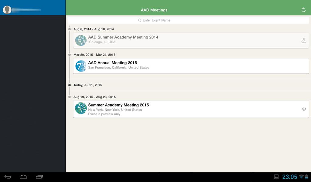 AAD Meeting App - screenshot