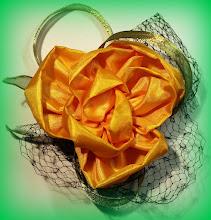 Photo: Цветы из ткани - ободок
