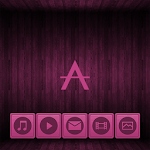 Wooden Icons Pink XZ Theme