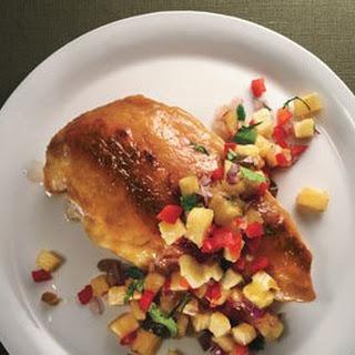 Pineapple-Glazed Chicken with JalapeñO Salsa Recipe