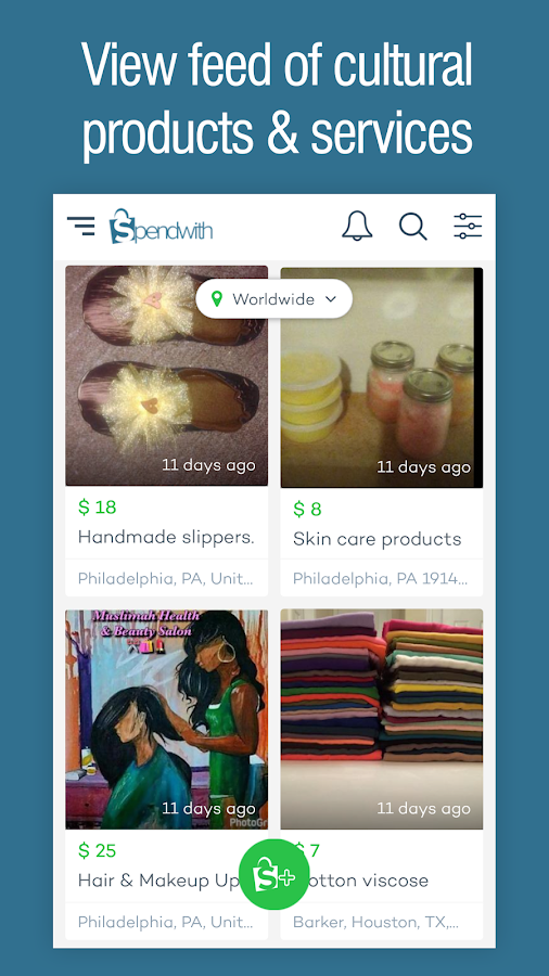 Spendwith - Cultural Shopping App- screenshot