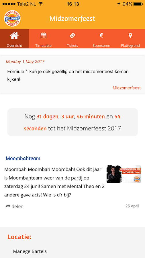 Midzomerfeest- screenshot