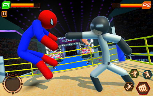 Stickman Wrestling: Stickman Fighting Game android2mod screenshots 7
