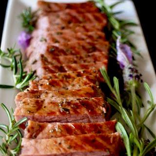 Lavender-Rosemary Grilled Ribeye Steak.