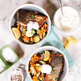Pan-Seared Salmon with Roasted Vegetables