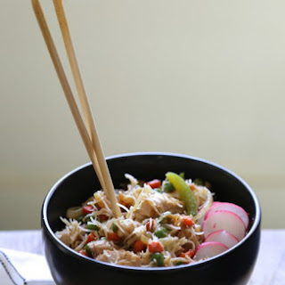Orange Sesame Pork Noodle Bowl.