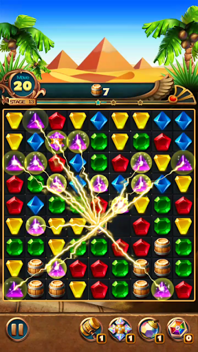 Jewels Treasure : Puzzle match 3  captures d'écran 5
