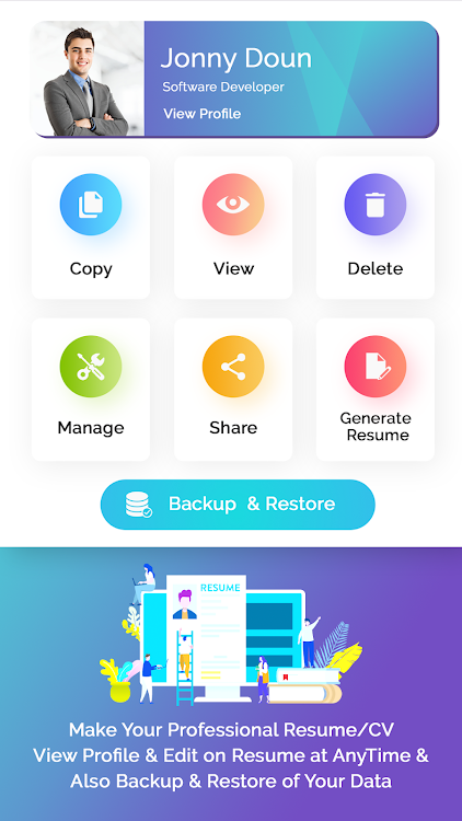 Resume Builder Free Cv Maker With Pdf Word Format Android Apps