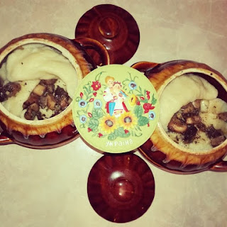 Potato Varenyky With Champignons And Cheese.