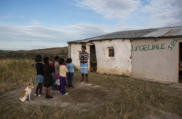 Lingelihle Primary School at Ciko village near Willowvale is one of the many run-down mud schools in the Eastern Cape.