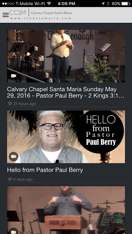 Calvary Chapel Santa Maria- screenshot