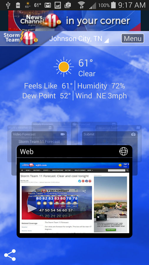 WJHL Radar- screenshot