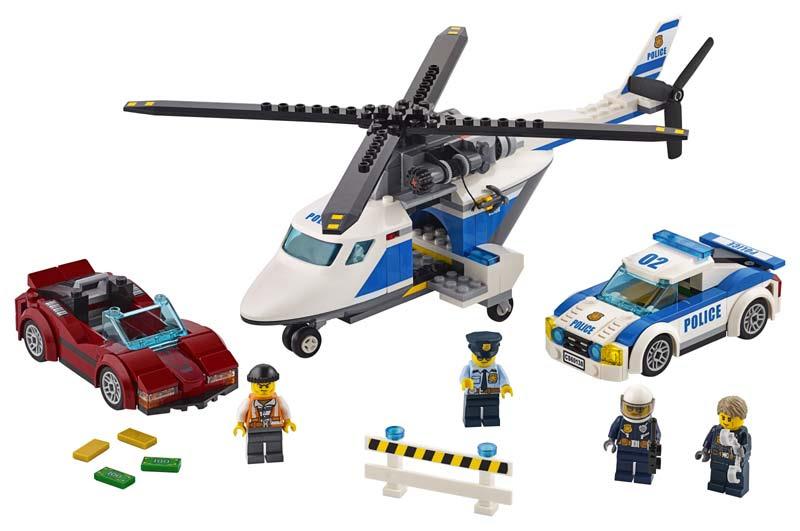 Contenido de Lego® 60138 Persecución por la Autopista