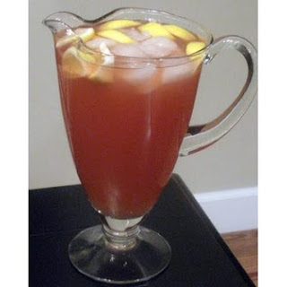 Hisbiscus Flower Punch With Apple & Lemon