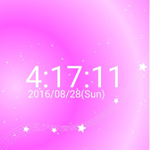 星 イメージ デジタル 卓上 時計 スター  無料版 遊戲 App LOGO-硬是要APP