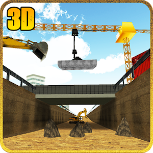Bridge Builder Crane Underpass for PC and MAC