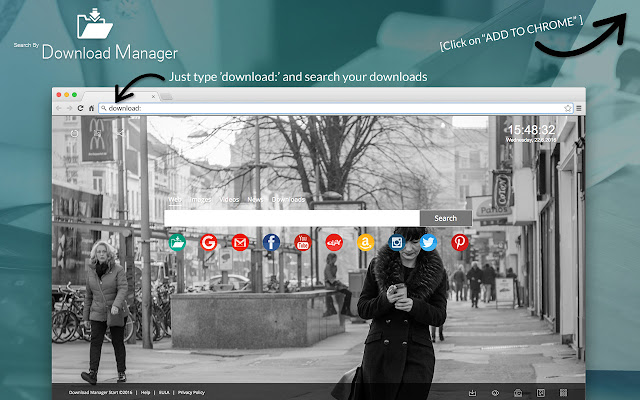 Search by Download Manager chrome extension