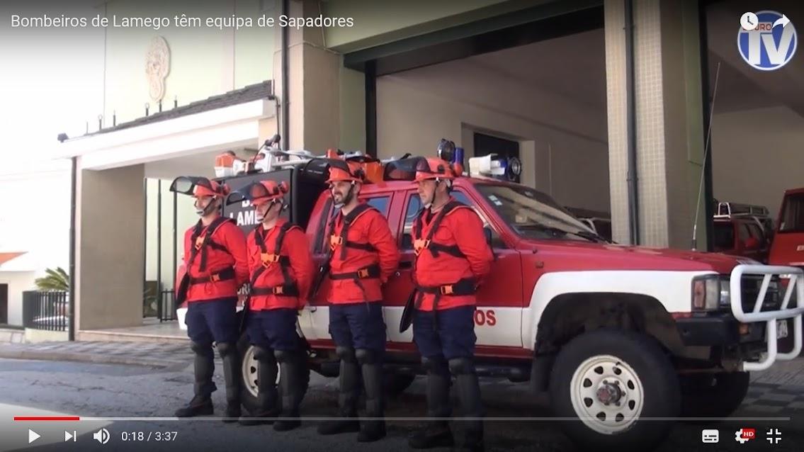 Vídeo - Bombeiros de Lamego têm equipa de Sapadores