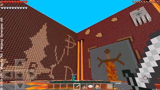 Blaze Arena Minecraft PvP map - náhled