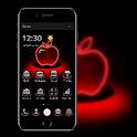 Red Neon Apple Dark Theme icon