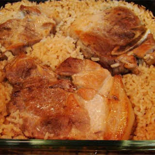 Connie's Pork Chops Over Rice.