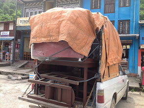 Photo: Transporting Peace Innovation Lab equipments/furnitures to Lamjung from Kathmandu