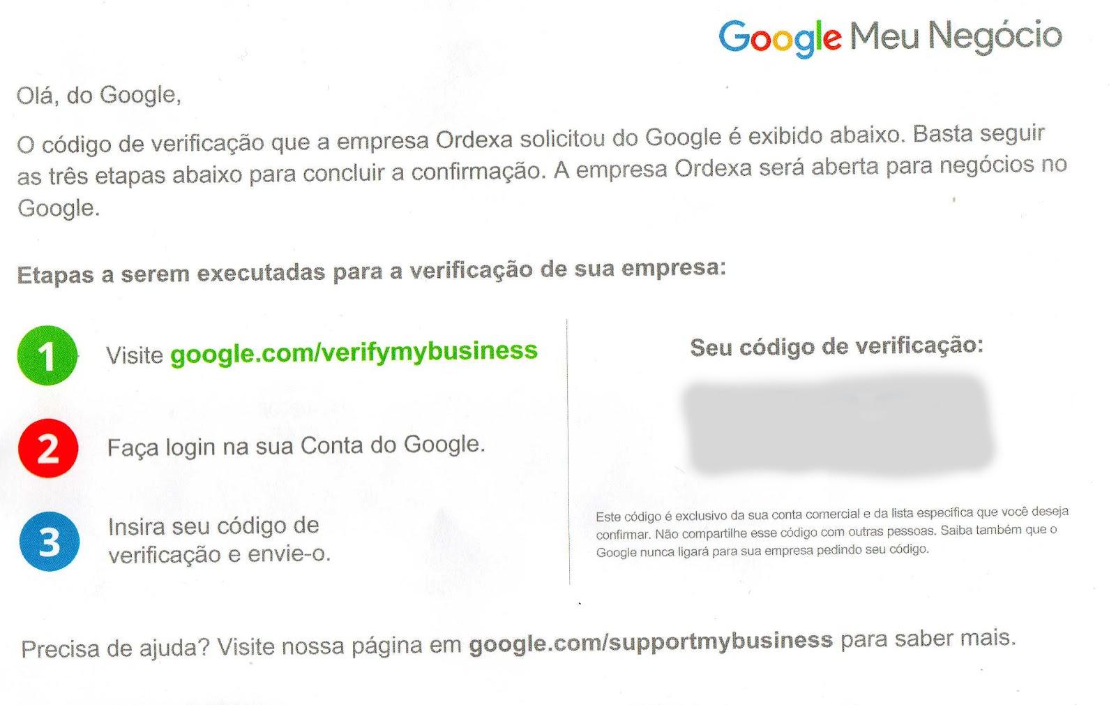 cartão postal google meu negócio