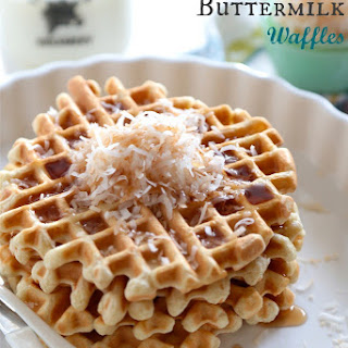 Toasted Coconut Buttermilk Waffles