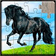 Jogo de Cavalos Quebra-cabeça Crianças e Adulto