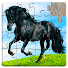 Horse Jigsaw Puzzles Game - For Kids & Adults icon