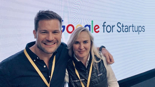 Will Green, programme director of Grindstone; and Catherine Young, CEO of Thinkroom and Grindstone Shareholder, at the launch of the global Google for Start-ups Summit in London.