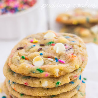 Funfetti Cheesecake Pudding Cookies