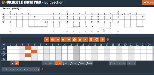 Ukulele Notepad - Tab Editor - by Codefad - Music & Audio