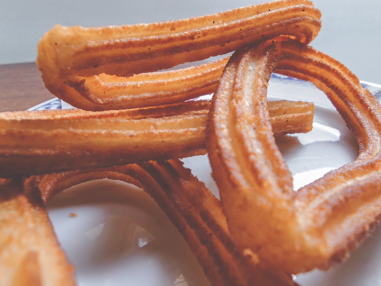 A closeup of the warm churros