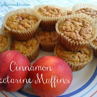 Cinnamon Nectarine Muffins.