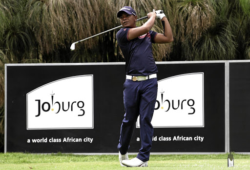 WINNING FORM Keenan Davidse of South Africa plays a shot on the 16th hole during the first day of the Joburg Open at Randpark Golf Club on Thursday.