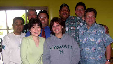 Photo: Margo and Ronnie in front. Garret, UKU@la, Glenn, Rainbow Cliff, Tombo Ahi, and Rich2176. King's Bakery & Restaurant - Torrance, CA 1/22/2008