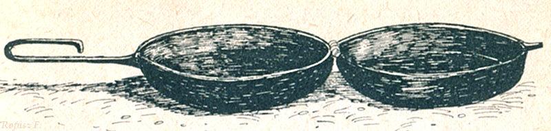 """Photo: Diskos - diszkosz, tok (Rofusz F. - ilustracja z książki Dobozi László """"Sütés főzés hegyen-völgyen vízparton"""") 3"""