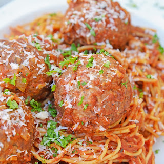 Instant Pot Spaghetti and Meatballs.