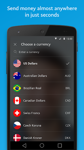 Screenshot 2 for PayPal's Android app'