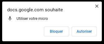 Dicter un texte dans Google Docs