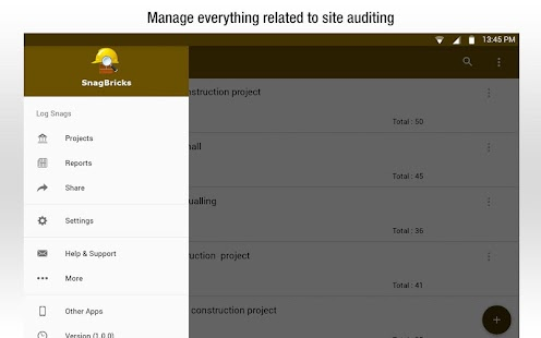 Snagbricks  Site Auditing Snagging  Punch List  Android Apps