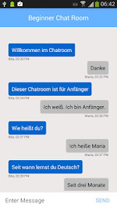 German Learning Chat Room screenshot 2