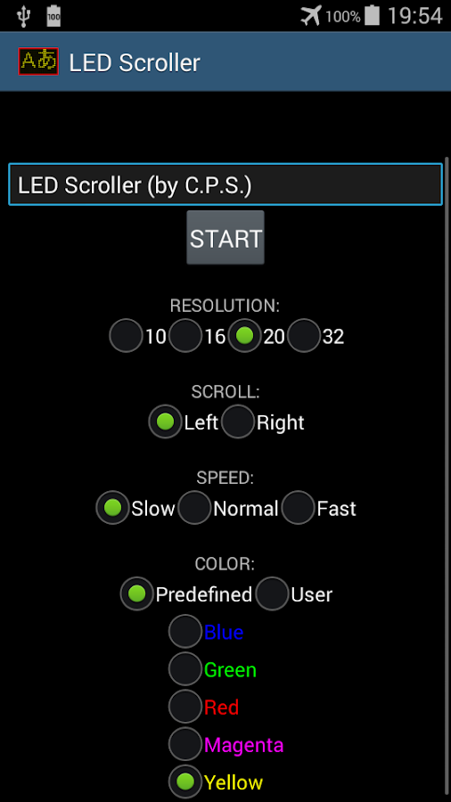 LED Scroller- screenshot