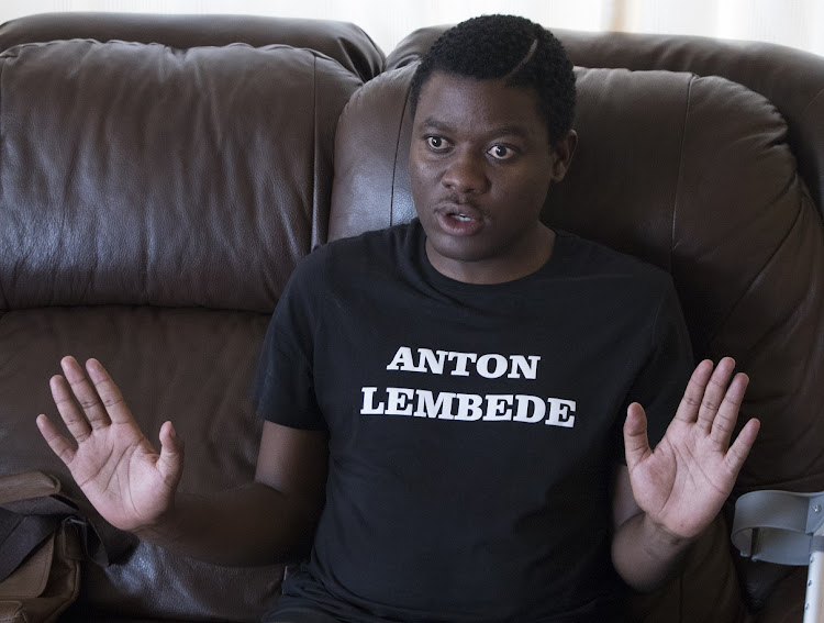 #FeesMustFall activist Bonginkosi Khanyile said he had hoped to score a bursary for his studies but his applications were rejected because of his criminal record. File photo.