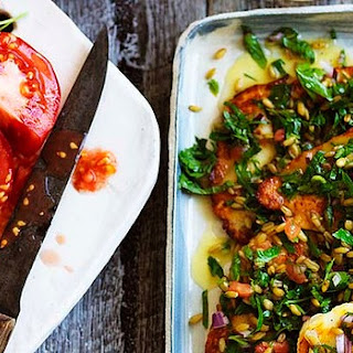 Farro Salad With Haloumi