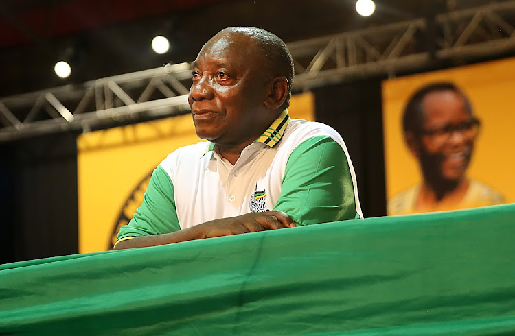 Cyril Ramaphosa took the reins of the governing party at the party's 54th elective conference in December. File photo.